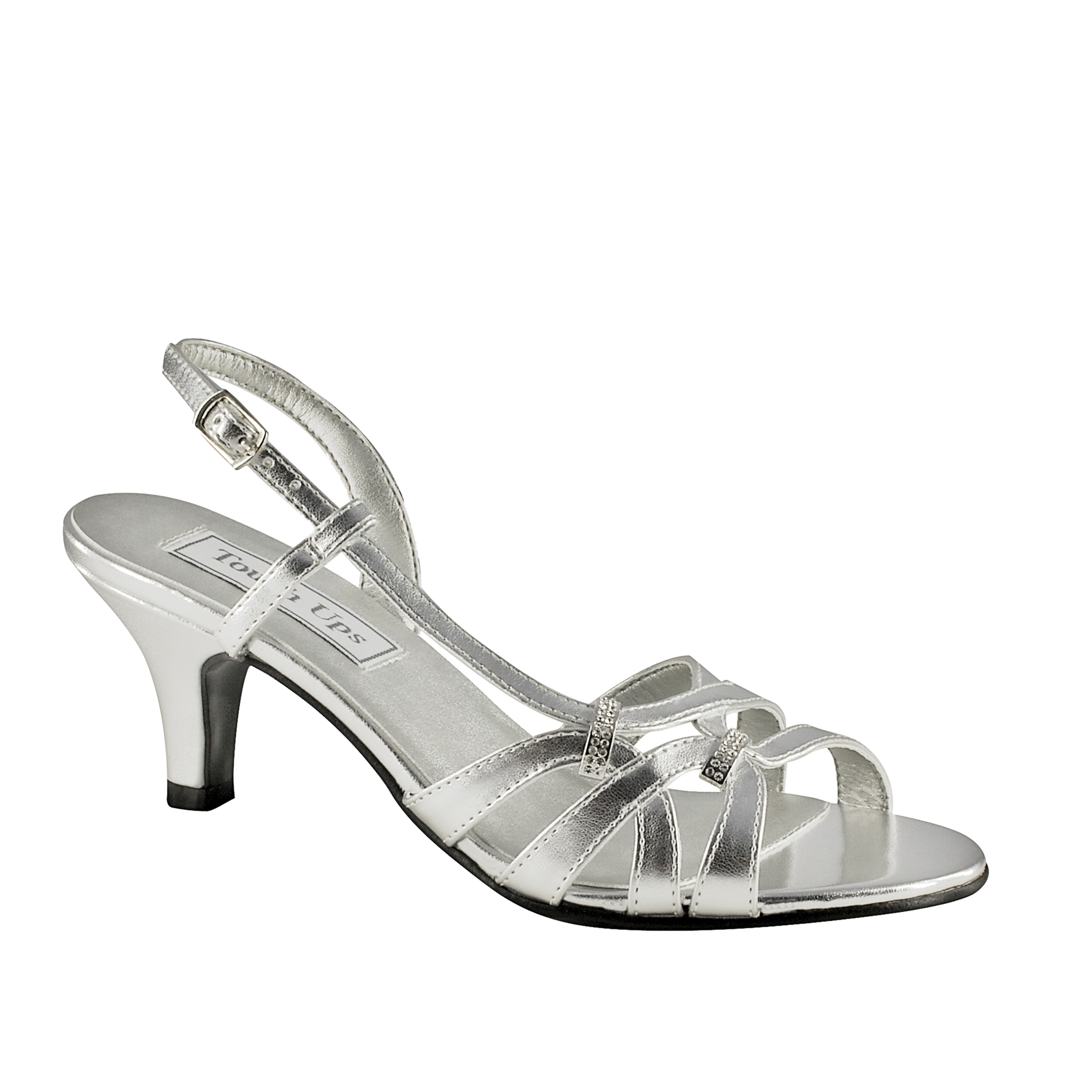 1945fd95da6 Dyeable Shoes. TOUCH UPS YVETTE WHITE 1 2″ HEEL.  72.00. touch ups donetta  silver ...