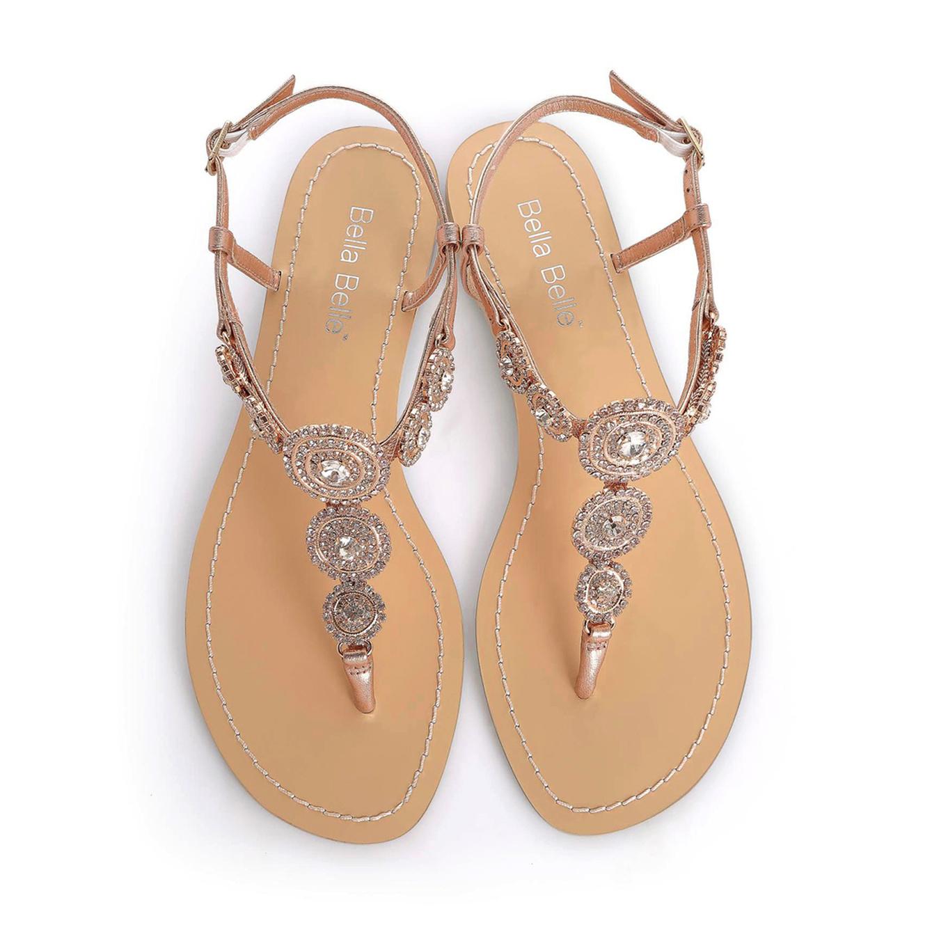 0318efabaf67e BELLA BELLE MYRA ROSE GOLD FLAT - Dyeable Shoe Store
