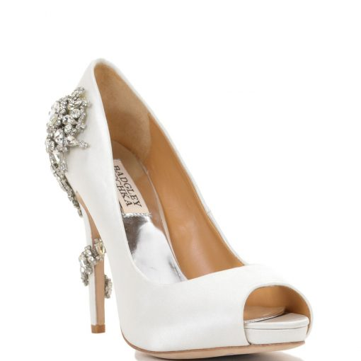 BADGLEY MISCHKA ROYAL WHITE SILK