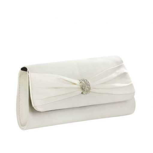 TOUCH UPS BRANDY WHITE HANDBAG