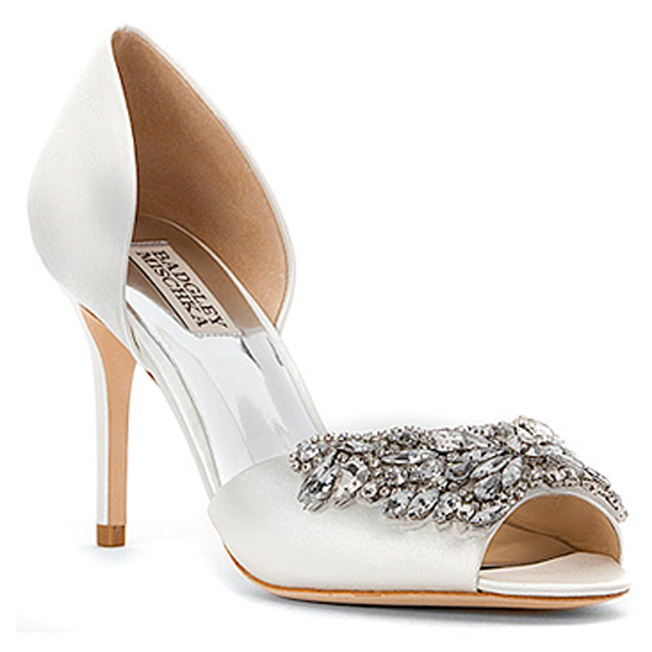 BADGLEY MISCHKA CANDACE WHITE SILK