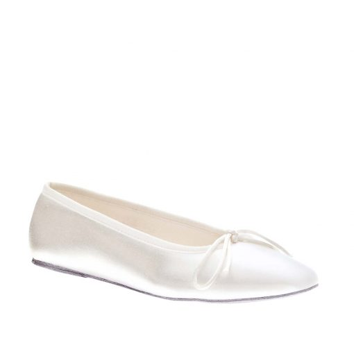 TOUCH UPS BALLET WHITE FLAT