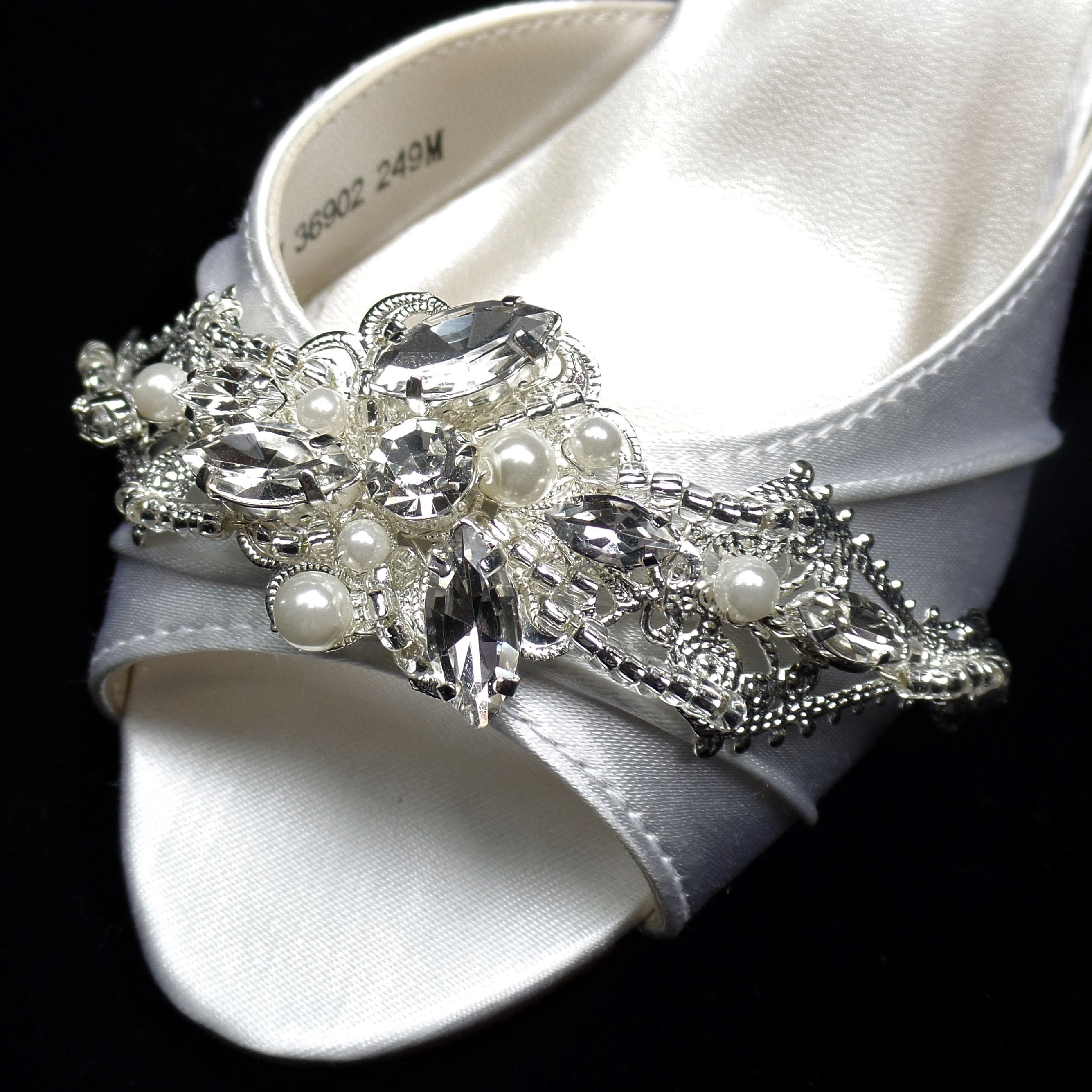 H207SCLARGE PEARL SHOE CLIP