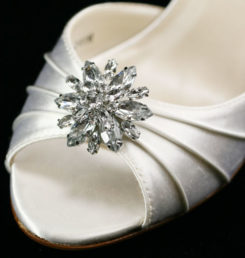 SUNFLOWER SILVER SHOE CLIP