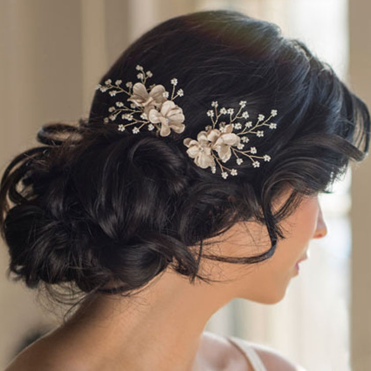 BEL AIRE BRIDAL SET OF 2 HAIRPINS 1720