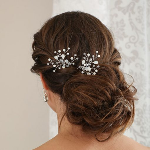 BEL AIRE BRIDAL SET OF 2 HAIRPINS 1717
