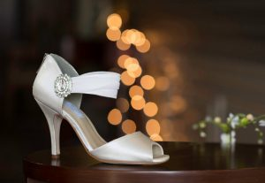 Custom dye your wedding shoes to match your dress