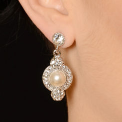BLING STUD PAVE EARRINGS
