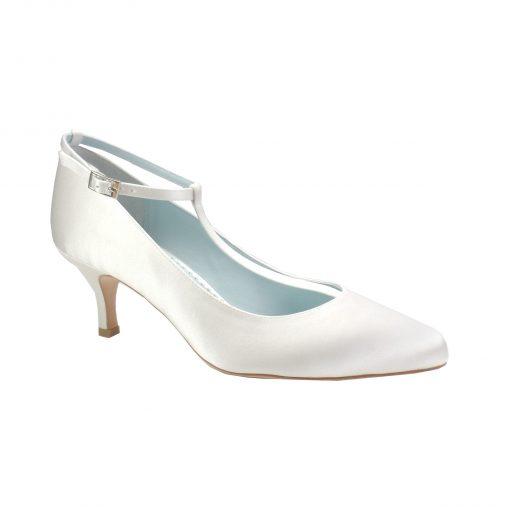 bella belle annalise white silk plain