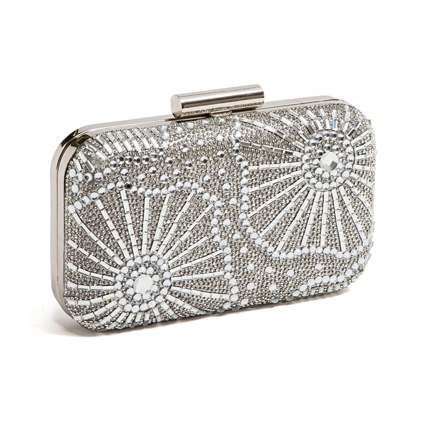 LADY COUTURE CRYSTAL BAG SILVER