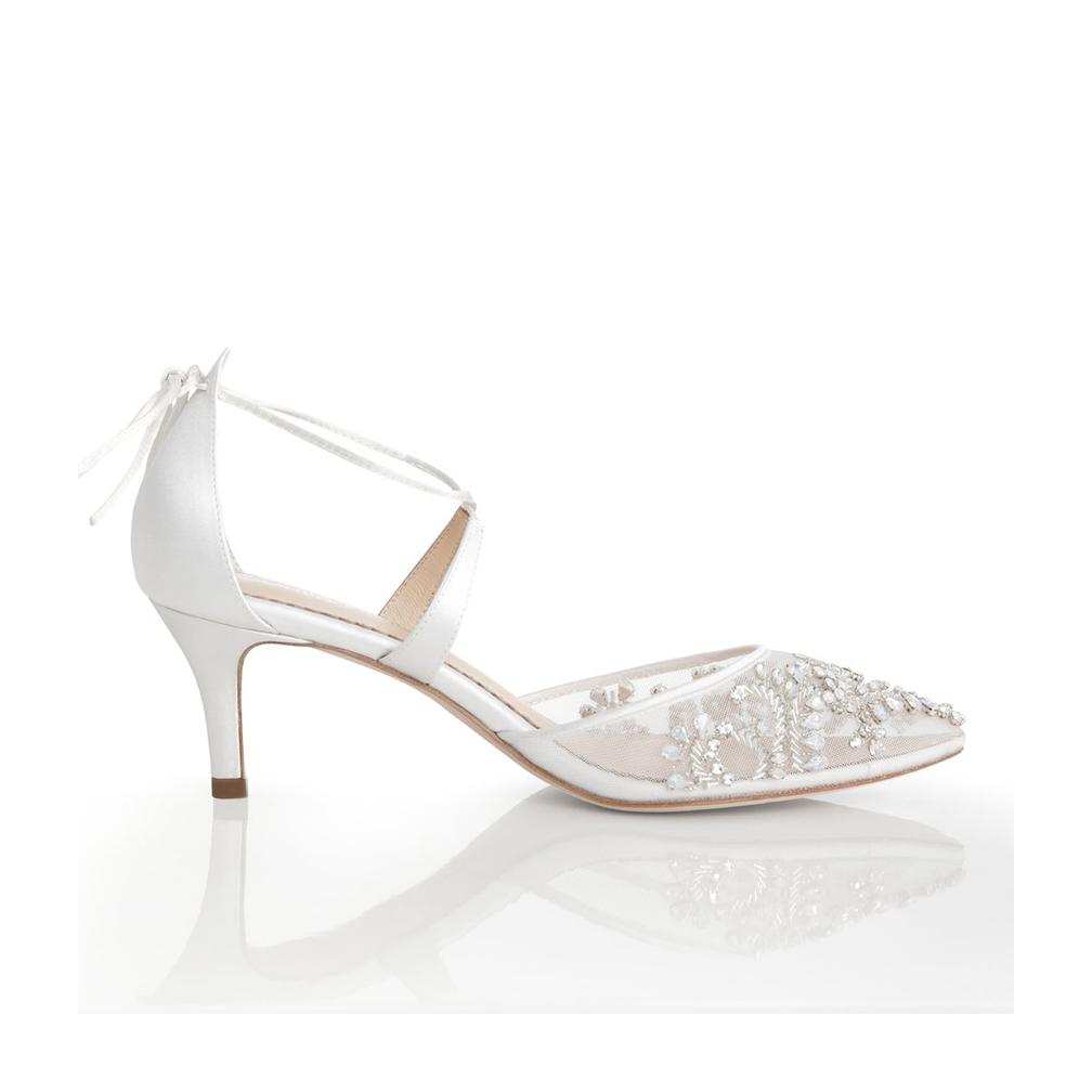 Bella Belle Frances Ivory 2 1 2 Quot Heel Dyeable Shoe Store