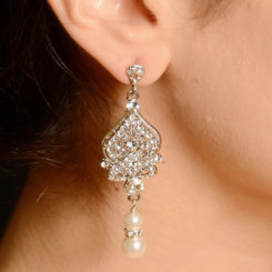 BLING ANTIQUE PEARL DROP EARRINGS