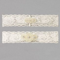 IVY LANE PEARL APPLIQUE GARTER SET
