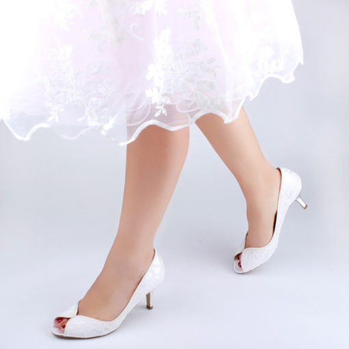 PINK CHRISTABEL IVORY SATIN