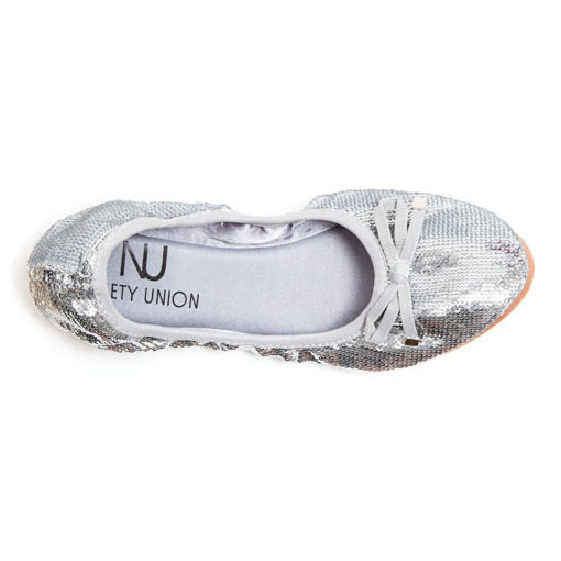 LADY COUTURE BALLERINA SILVER FLAT