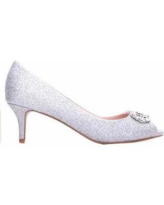Prunella Silver Glitter